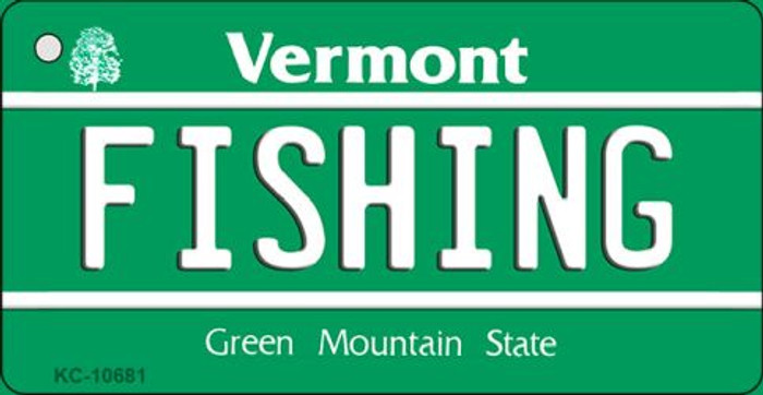 Fishing Vermont License Plate Novelty Key Chain KC-10681