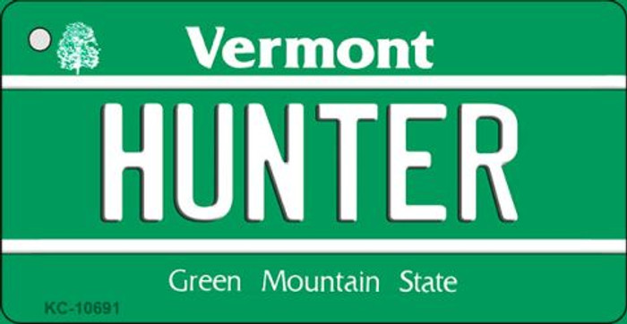 Hunter Vermont License Plate Novelty Key Chain KC-10691
