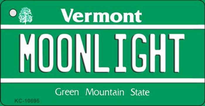 Moonlight Vermont License Plate Novelty Key Chain KC-10695