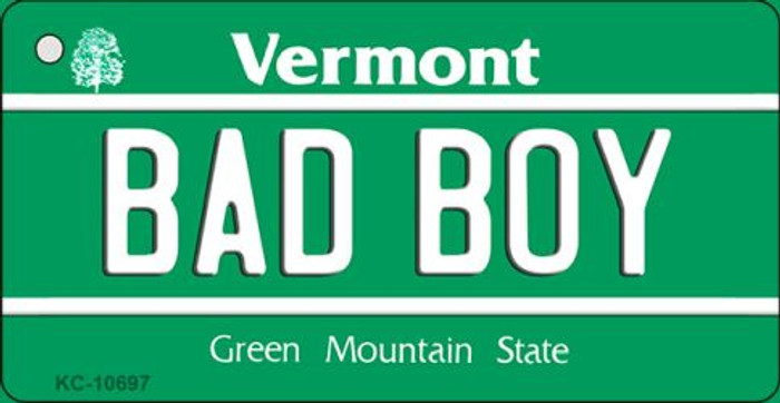 Bad Boy Vermont License Plate Novelty Key Chain KC-10697