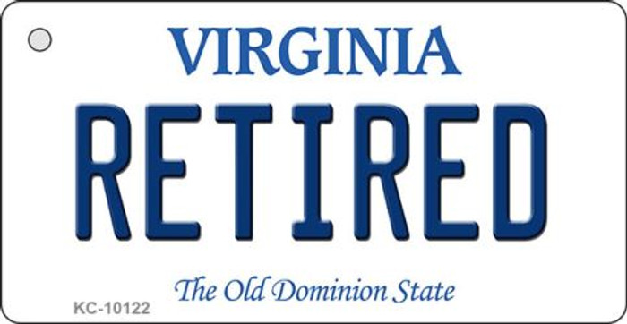 Retired Virginia State License Plate Key Chain KC-10122