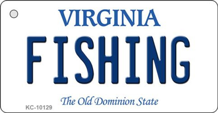 Fishing Virginia State License Plate Key Chain KC-10129