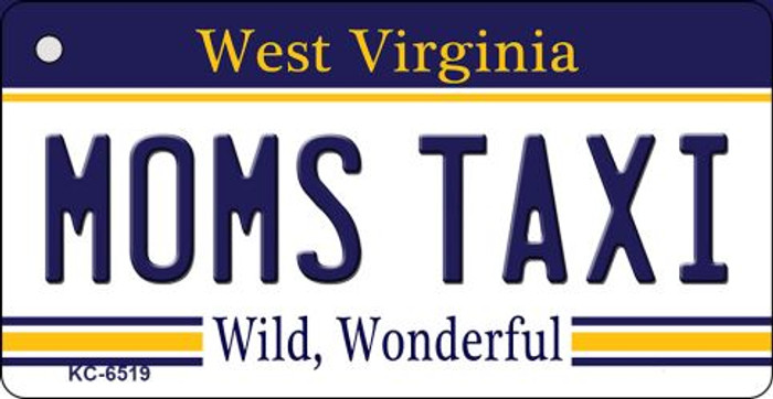 Moms Taxi West Virginia License Plate Key Chain KC-6519