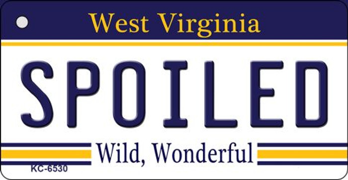 Spoiled West Virginia License Plate Key Chain KC-6530