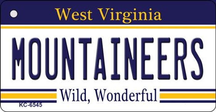 Mountaineers West Virginia License Plate Key Chain KC-6545