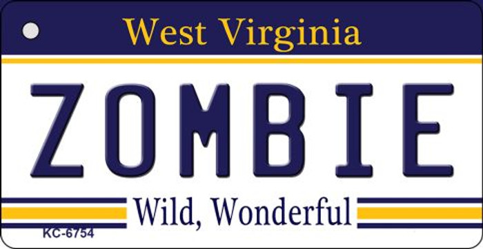 Zombie West Virginia License Plate Key Chain KC-6754
