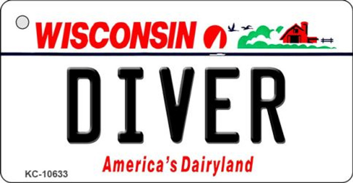 Diver Wisconsin License Plate Novelty Key Chain KC-10633