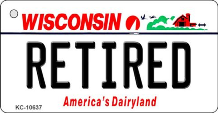 Retired Wisconsin License Plate Novelty Key Chain KC-10637
