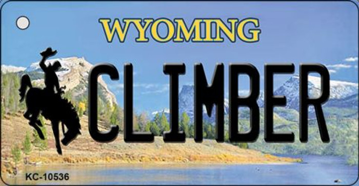 Climber Wyoming State License Plate Key Chain KC-10536