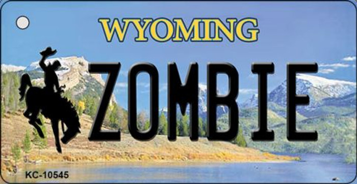 Zombie Wyoming State License Plate Key Chain KC-10545
