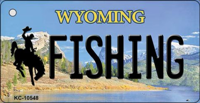 Fishing Wyoming State License Plate Key Chain KC-10548