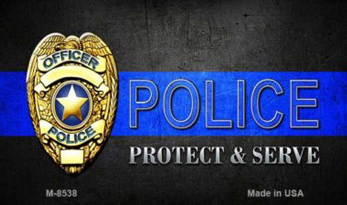 Protect and Serve Novelty Magnet M-8538
