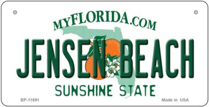 Jensen Beach Florida State Novelty Bicycle License Plate BP-11691