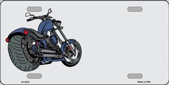 Motorcycle Offset Metal Novelty License Plate LP-3476