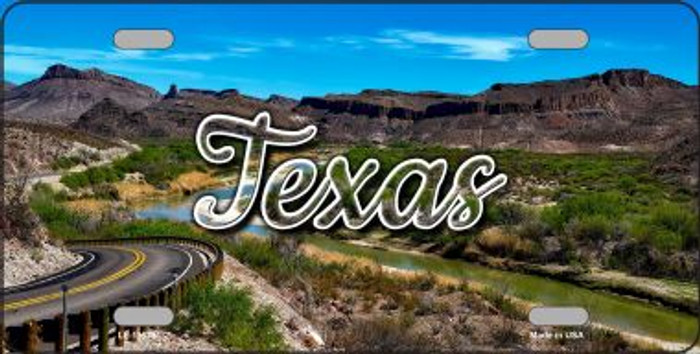 Texas City Lights State License Plate LP-11633