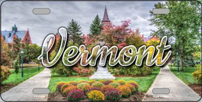 Vermont State Building State License Plate LP-11635