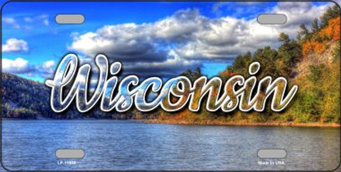 Wisconsin Colorful Lake State License Plate LP-11640