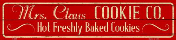 Mrs Claus Cookie Co Novelty Mini Street Sign K-650