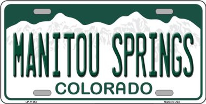 Manitou Springs Colorado Background Novelty License Plate LP-11654