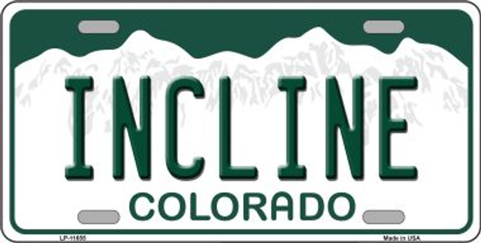 Incline Colorado Background Novelty License Plate LP-11655