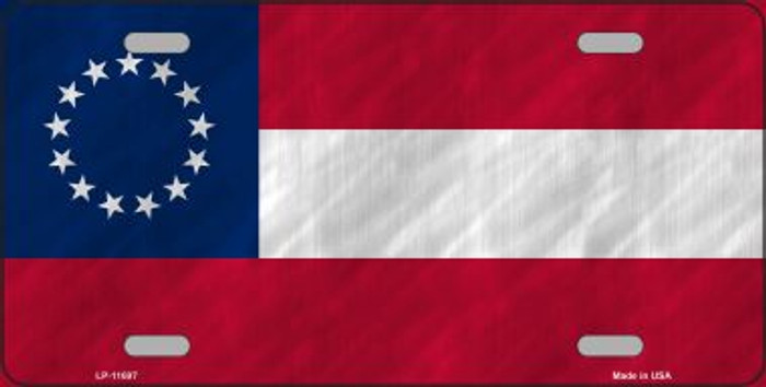 First Confederate Flag 13 Stars Novelty License Plate LP-11697