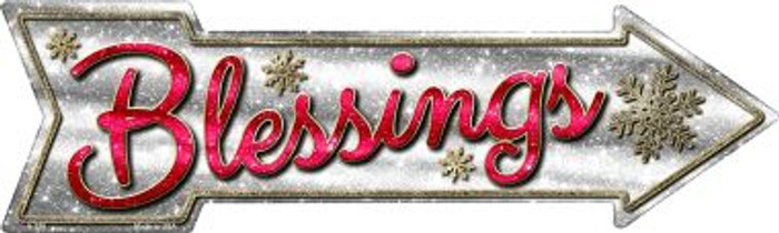 Blessings Novelty Metal Arrow Sign A-376