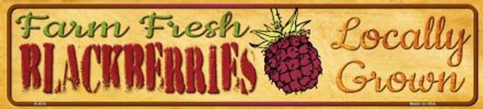 Farm Fresh Blackberries Novelty Mini Street Sign K-674