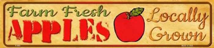 Farm Fresh Apples Novelty Mini Street Sign K-680
