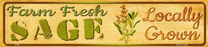 Farm Fresh Sage Novelty Mini Street Sign K-682