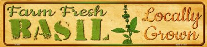 Farm Fresh Basil Novelty Mini Street Sign K-698