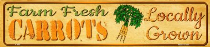 Farm Fresh Carrots Novelty Mini Street Sign K-699