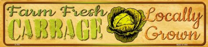 Farm Fresh Cabbage Novelty Mini Street Sign K-703