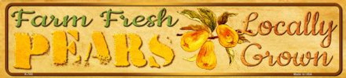 Farm Fresh Pears Novelty Mini Street Sign K-708
