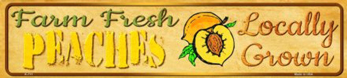 Farm Fresh Peaches Novelty Mini Street Sign K-711