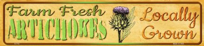 Farm Fresh Artichokes Novelty Mini Street Sign K-712