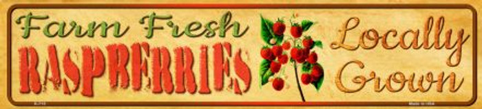 Farm Fresh Raspberries Novelty Mini Street Sign K-713