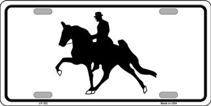 Horse With Rider Metal Novelty License Plate