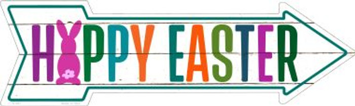 Happy Easter Novelty Metal Arrow Sign A-397