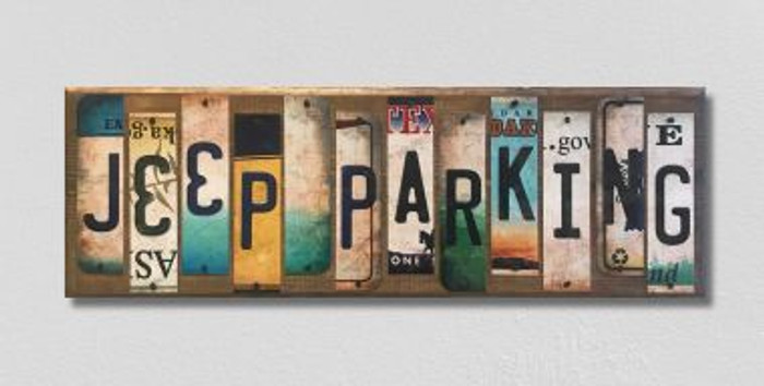 Jeep Parking License Plate Strip Novelty Wood Sign WS-037