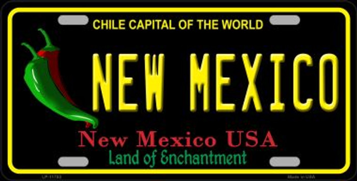New Mexico Black Novelty State License Plate LP-11753