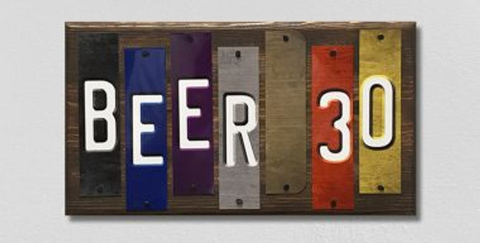 Beer 30 Fun Strips Novelty Wood Sign WS-102