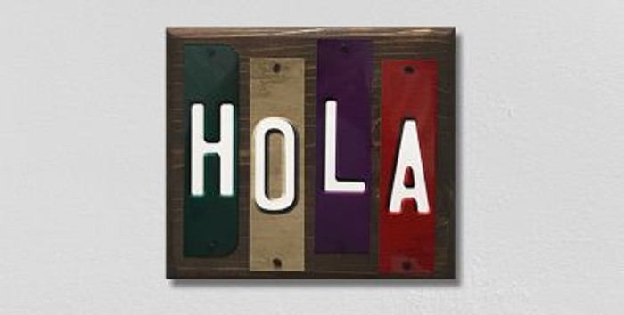 Hola Fun Strips Novelty Wood Sign WS-109