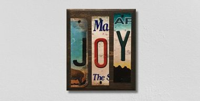 Joy License Plate Strips Novelty Wood Sign WS-113