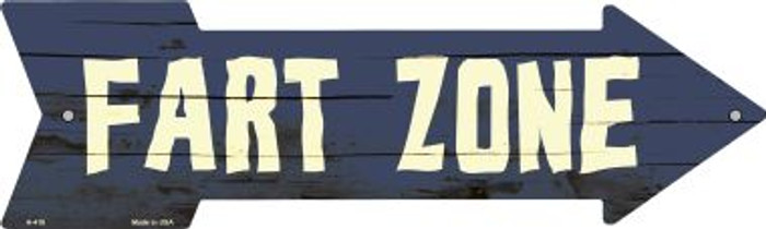 Fart Zone Novelty Metal Arrow Sign A-418