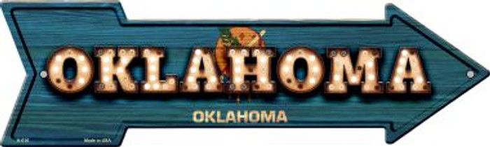 Oklahoma Bulb Lettering With State Flag Novelty Arrows A-616