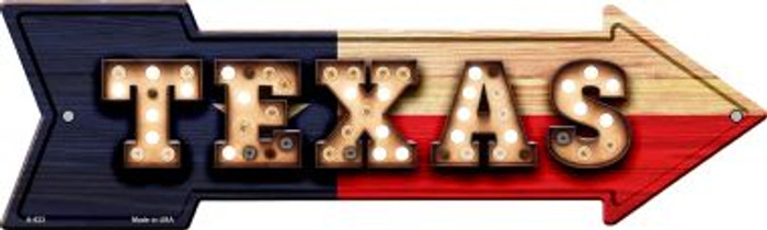 Texas Bulb Lettering With State Flag Novelty Arrows A-623