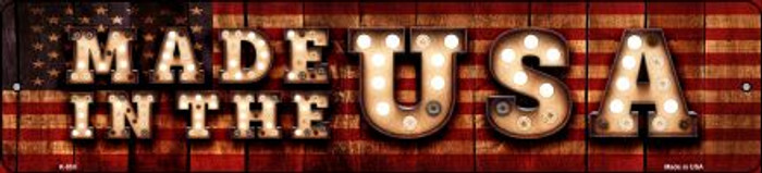 Made in the USA Bulb Lettering American Flag Mini Street Sign K-850