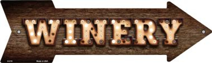 Winery Bulb Letters Novelty Arrow Sign A-515