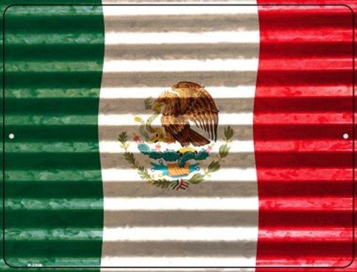 Mexico Flag Novelty Parking Sign P-2309
