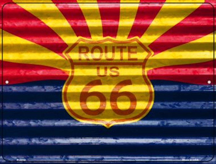 Route 66 Arizona Flag Novelty Parking Sign P-2312